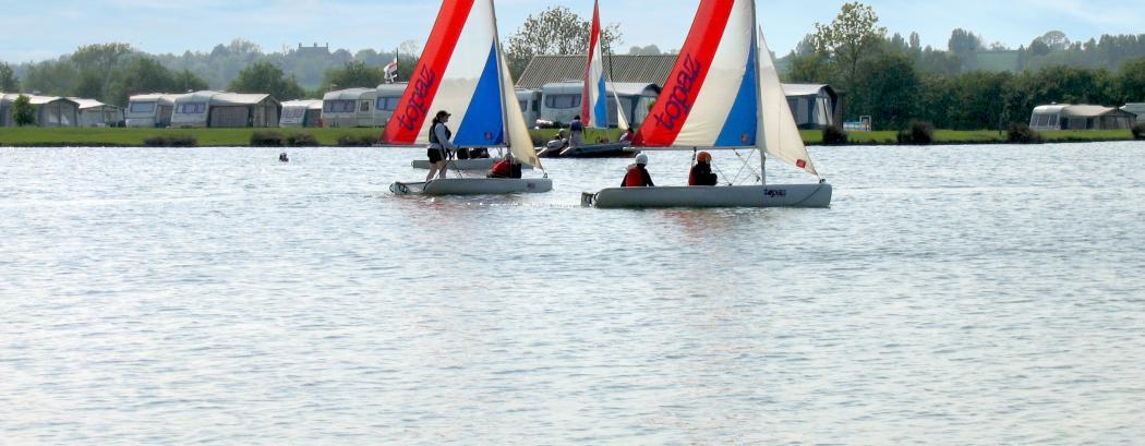children sailing at Croft Farm