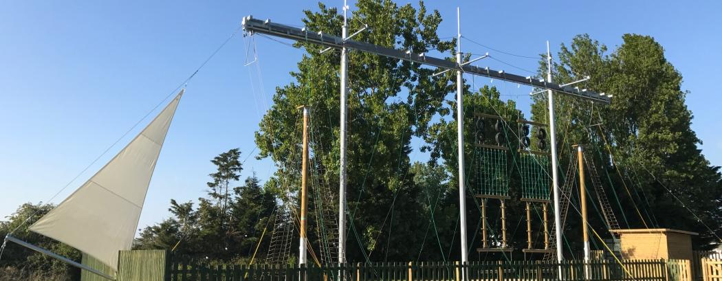 High ropes course at Mill Rythe