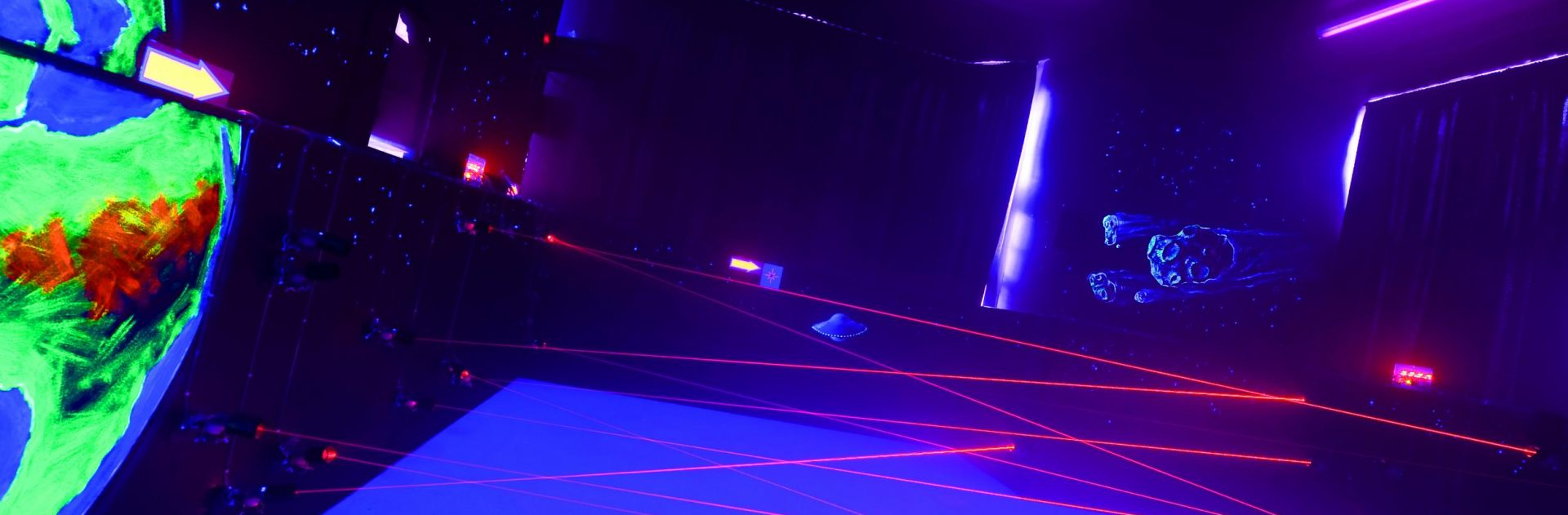 Laser maze at Condover Hall