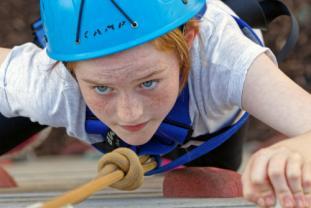 Student climbing at Condover Hall
