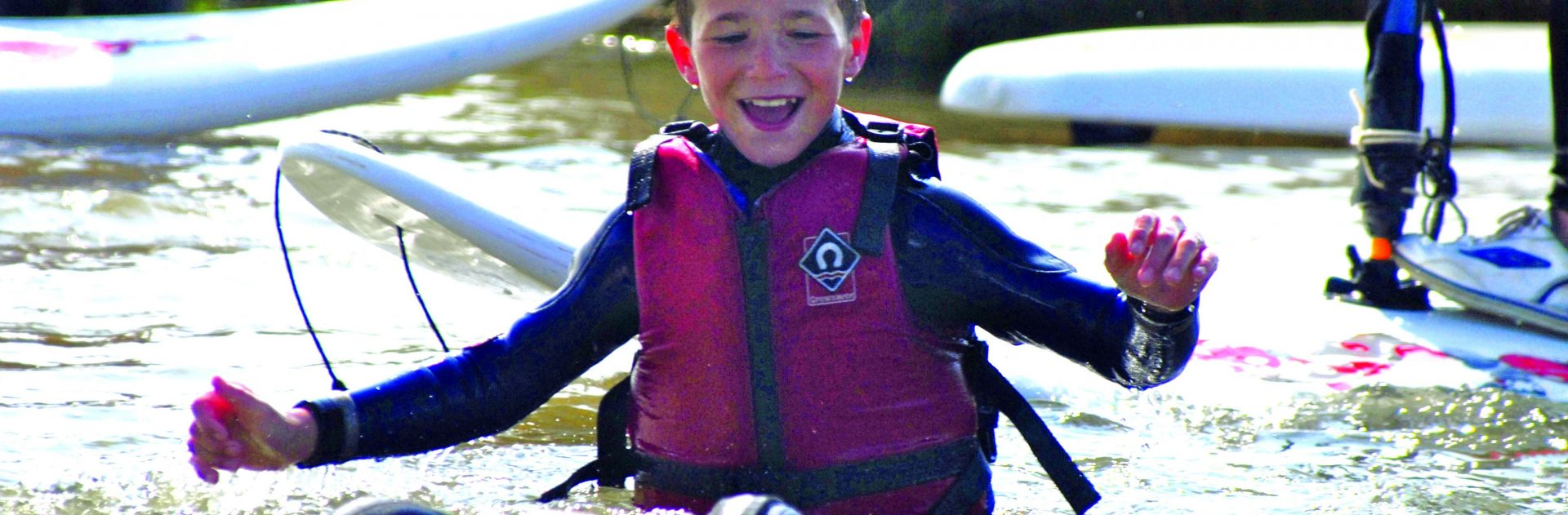 Child windsurfing