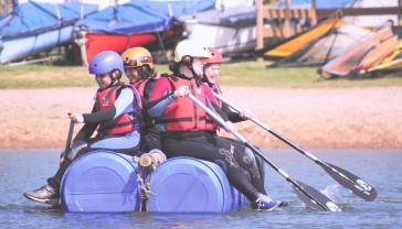 Students raft building at Condover Hall